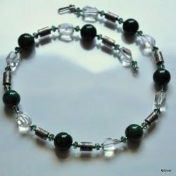 48. Naszyjnik z zielonym  agatem