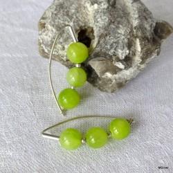 66. Kolczyki zielony jadeit