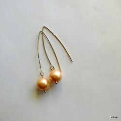 """121. Kolczyki złososiową perłą """"Majorka"""""""