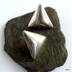 127. Kolczyki srebrne trójkąty