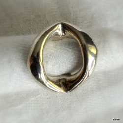 "54. Srebrny pierścionek ""ogniwo łańcucha"""