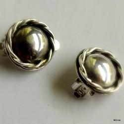 40. Klipsy srebrne
