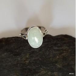 156. Srebrny pierścionek z awenturynem