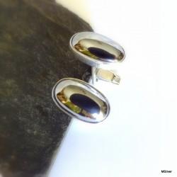 42. Srebrne spinki do mankietów z hematytem