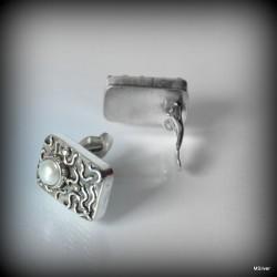 6. Klipsy srebrne z perłą